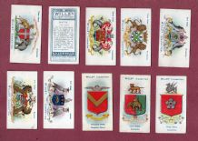 cigarette cards Borough Arm for English towns,Oxford,York,Belfast